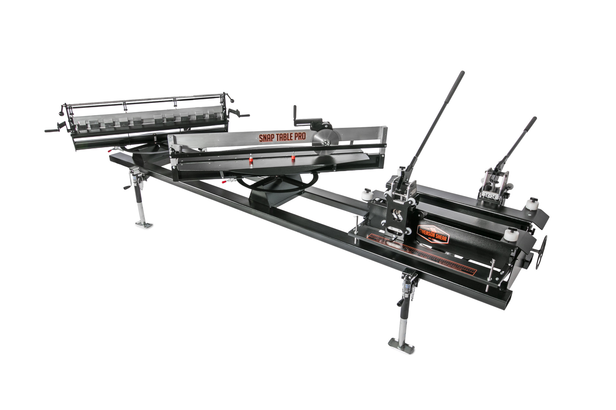 The new SnapTable PRO from Swenson Shear, Ceres, Calif., adjusts to accommodate panels between 12 and 24 inches.