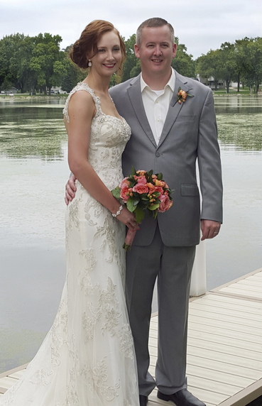 Editor Christina Koch married Bart Thoreson on Aug. 29 along the lake behind their Iowa home.