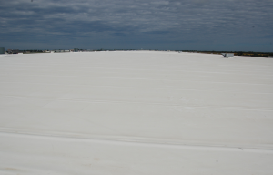 Mechanically attached TPO (and PVC) are cost-effective roof-cover options for large projects.