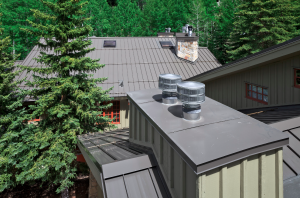 One requirement was to avoid exposed fasteners, which meant employing stainless-steel material in many of the details: skylights, chimneys, roof to wall flashings.