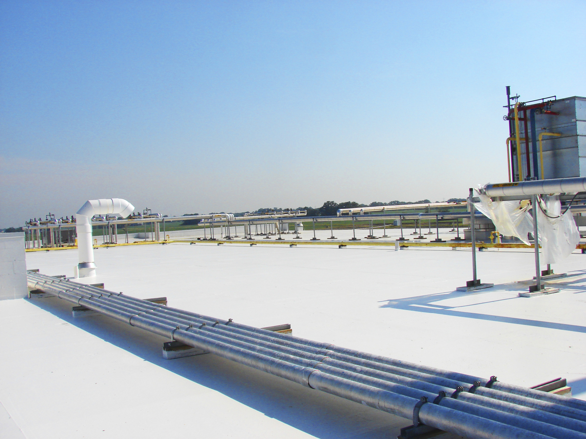The new Silicone Roof Coating System from Mule-Hide Products Co. Inc. can be used to restore and repair asphalt, modified bitumen, metal, concrete, TPO, PVC and EPDM roof systems.