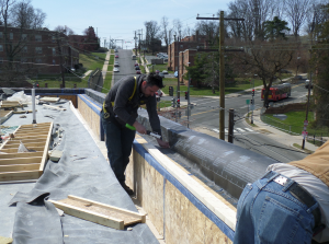 A 60-mil EPDM membrane was installed on all three buildings.