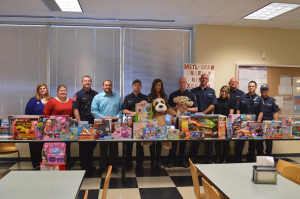 The employees at Metl-Span's corporate headquarters and Lewisville manufacturing plant have again stepped up to generously support a program organized to provide Christmas gifts for underprivileged children in the area.