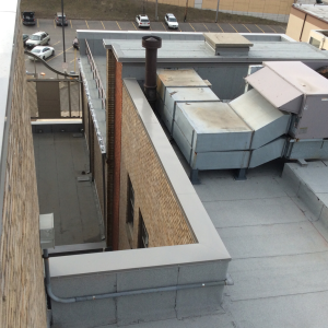 Because of the area's harsh winter climate, the hotel's reroofing project required a redundant roofing system that would be strong and durable. The SOPREMA system chosen is typically used in climates like this for that reason.