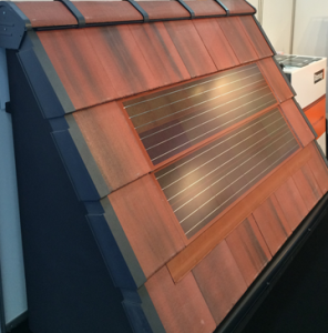 The Intecto integrated solar PV tile from Romag is specially designed to fit seamlessly alongside standard residential and commercial roof tiles and is available in a range of colours to match existing roof coverings.