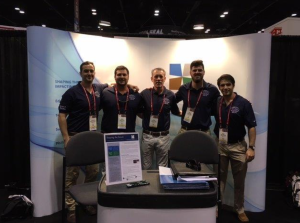 The alliance's second annual Construction Management Student Design Competition was won by a team from the University of Florida, Gainesville (shown here in the alliance's booth at the 2016 International Roofing Expo).
