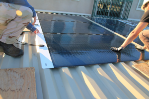 Installing the Miasole FLEX W on a 7.2 Metal panel