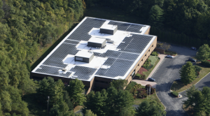 Energy-efficiency upgrades and a high-efficiency solar-energy solution significantly reduced an existing commercial building's power load.