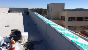 The hospital has more than 2,500 lineal feet of edge metal, which would've taken Diamond Roofing three weeks to fabricate. It saved time and labor to order prefabricated edge metal.