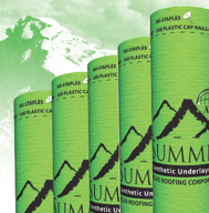 Summit 180 synthetic underlayment by Atlas Roofing offers many advanced benefits not available with conventional felt.