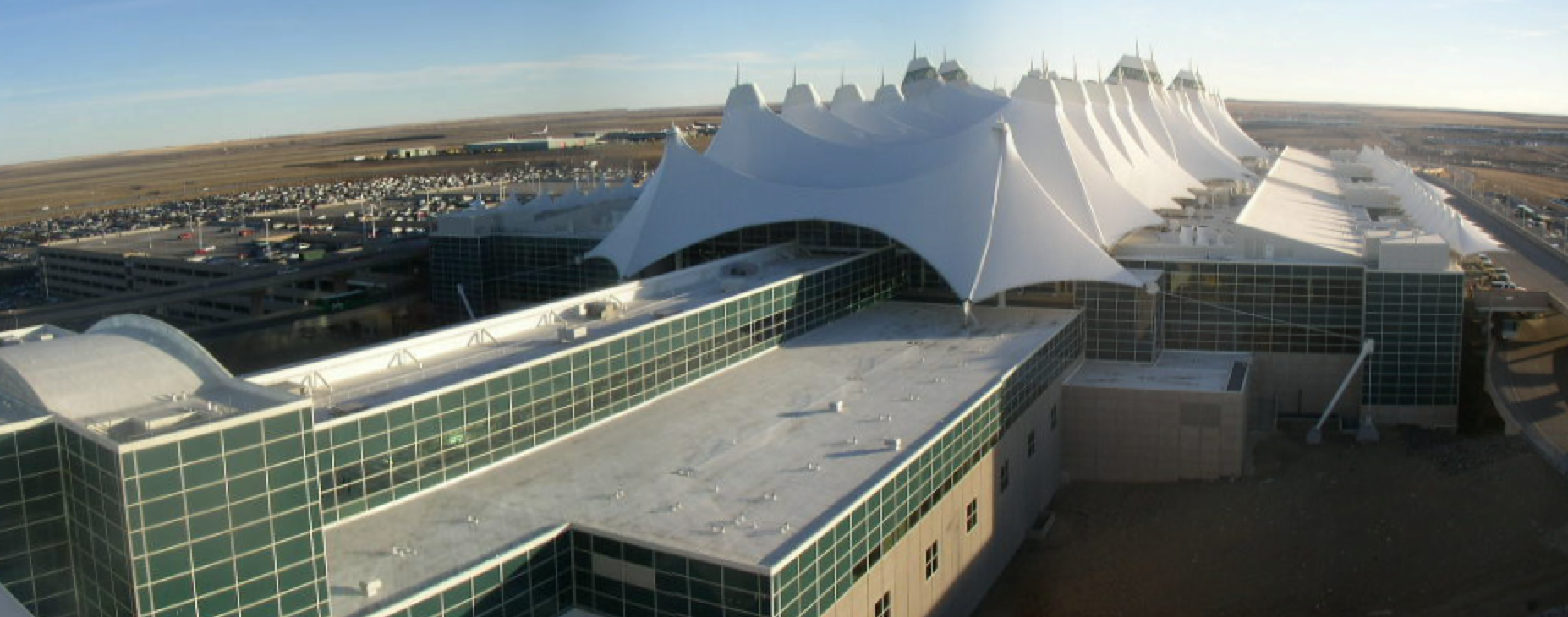 A new EPDM roof on Denver International Airport.