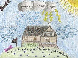 Isabella Jube, daughter of Raphael Jube, an employee of Ideal Building Solutions, Norcross, Ga., won NRCA's Children's Art Contest in the Grades 3-5 category. The third- annual National Roofing Week contest, received 53 entries; more than 3,000 online votes chose the winners.