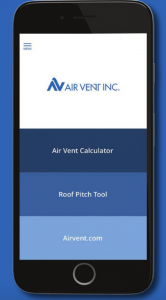 Roofing professionals can now take Air Vent's attic ventilation tools on the go via a free app.