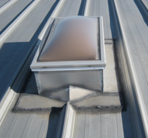 Seams around skylights and roof protrusions can cause roof vulnerabilities.