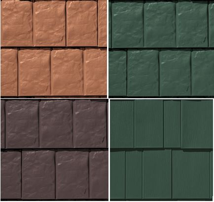 TAMKO offers the MetalWorks StoneCrest Slate profile in three additional colors and the Astonwood shingle profile in 28 gauge steel.