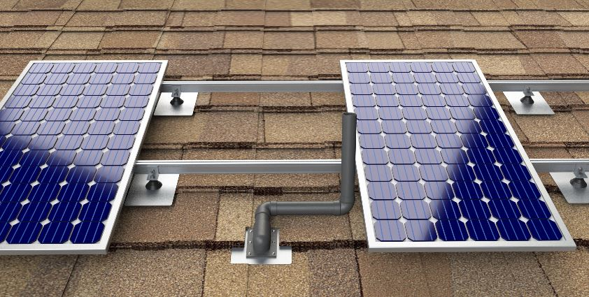 Install Solar Panels Around Roof Vent Pipes Roofing