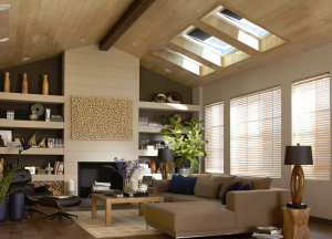 A home uses operable skylights, which open to allow ventilation and daylighting. PHOTO: VELUX