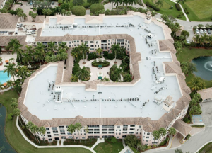 The two buildings in the retirement facility were still occupied during the reroof project, creating an additional challenge during installation, but the work came in on schedule and within budget.