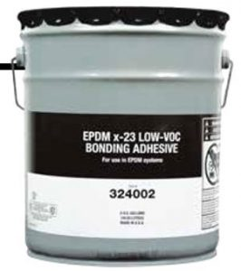 EPDM x-23 Low-VOC Bonding Adhesive boosts roofing crew productivity while helping ensure blister-free installations of EPDM roofing systems.
