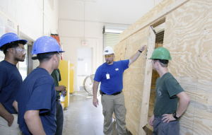 HBI's program is designed to support students at every stage of the employment continuum. Students are trained and certified in brick masonry, building construction technology, carpentry, electrical wiring, heating, ventilation and air conditioning, landscaping, plumbing, solar installation or weatherization.