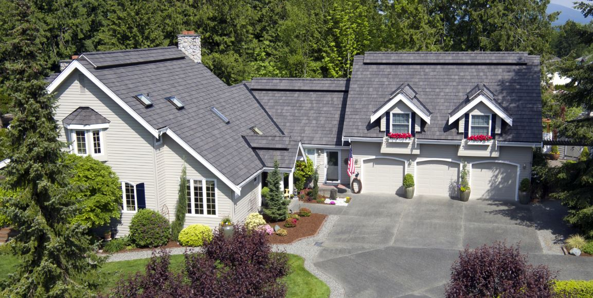 The Schwabs chose DaVinci Roofscapes composite shake roofing tiles for their re-roofing project.