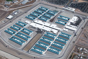 The California Health Care Facility in Stockton is comprised of 23 buildings on 144 acres. A total of 792,000 square feet of roofing was installed on the project.
