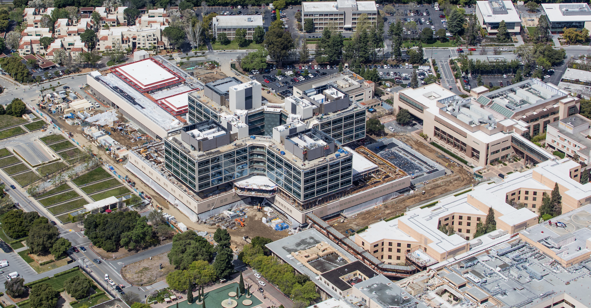 The new Stanford Hospital is currently under construction in Palo Alto, Calif.