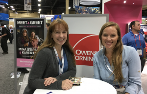 Karen E. Laine (left) and Mina Starsiak were on hand at the 2017 International Roofing Expo to offer design advice to show attendees. Photo: Chris King.