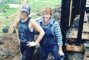"Mina Starsiak (left) and Karen E. Laine started their own company, Two Chicks and a Hammer, to tackle home restoration projects. The duo currently stars in the HGTV series ""Good Bones."" Photo: Two Chicks and a Hammer."