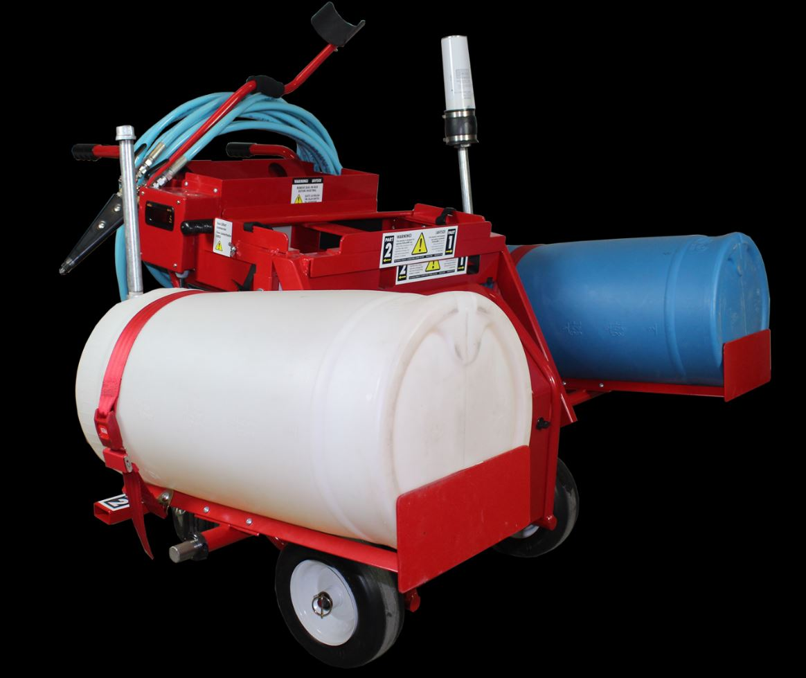 The Pace Cart Conversion Kit can help contractors dispense more OlyBond 500 Adhesive per hour.