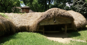Photo 3. Below-ground cottage in the Village Museum in Bucharest. Photo: Ana-Maria Dabija.