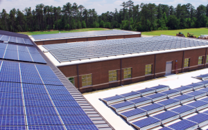 Photovoltaic panels were installed