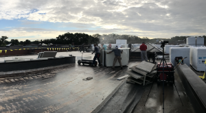 Strober-Wright Roofing executed a completed a tear-off and re-roof of the entire complex of Montgomery Lower Middle School. Approximately 130,000 square feet of roofing was removed and replaced with a two-ply modified bitumen system.