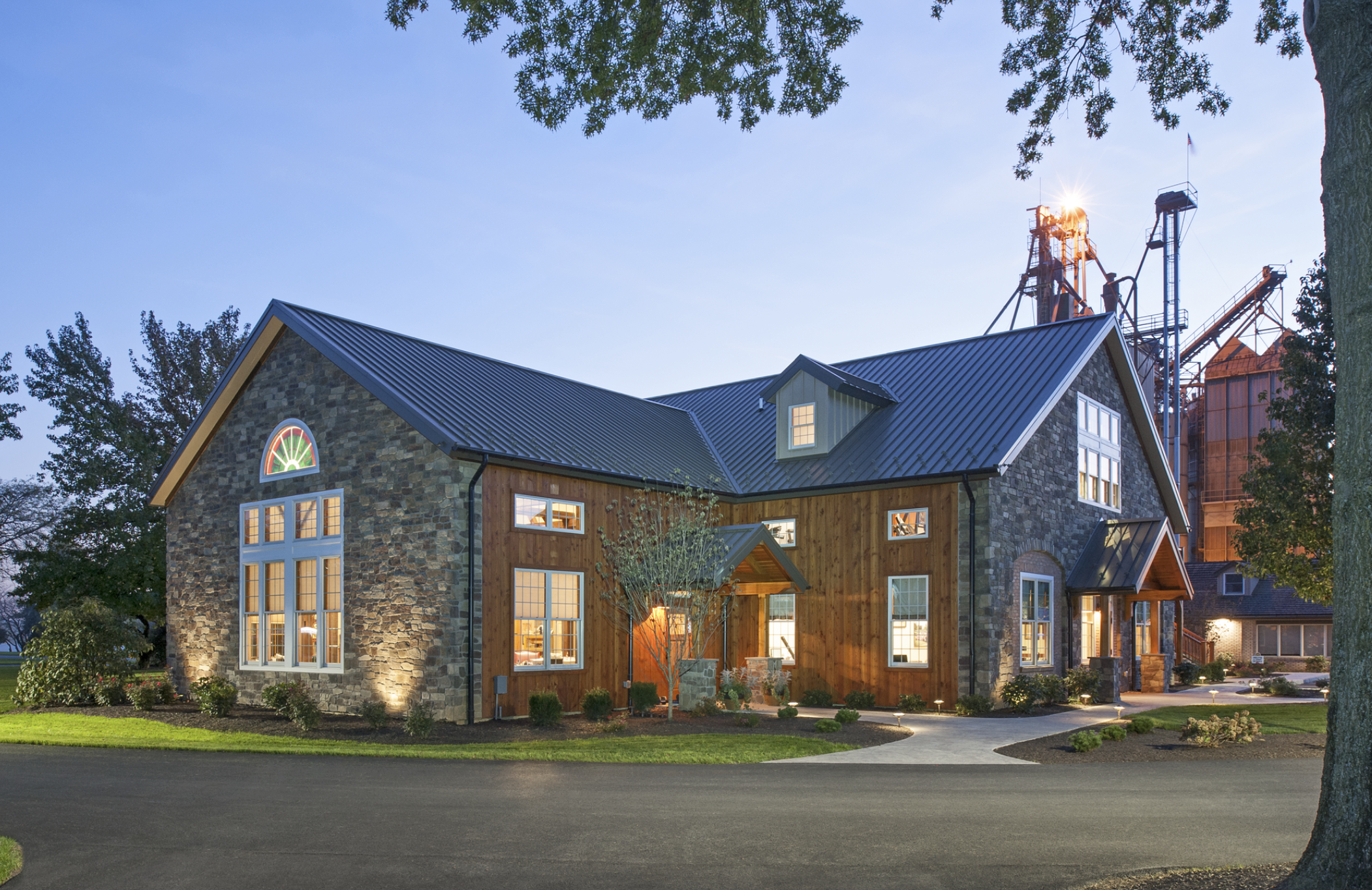 Standing Seam Metal Roof Crowns Jaindl Farms Office Addition - Roofing