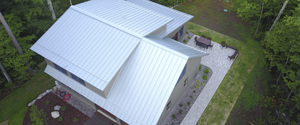 Standing Seam Metal Roof Is the Natural Choice for New Cottage in Wisconsin