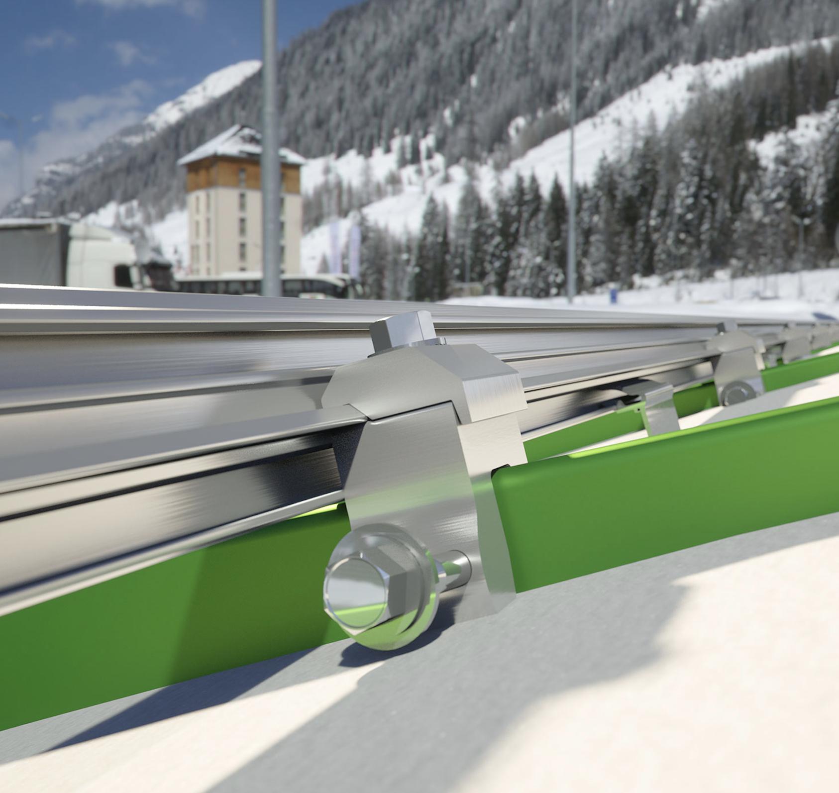Snow-Retention System Utilizes Snap-Fit Design - Roofing