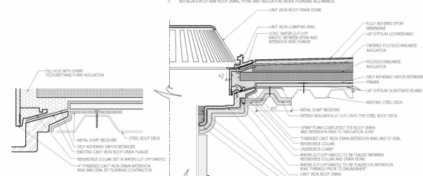Replacing a Roof Drain on a Structurally Sloped Steel Roof Deck
