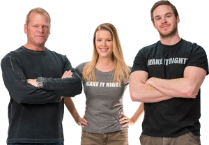 Mike Holmes, Sherry Holmes and Mike Holmes Jr.