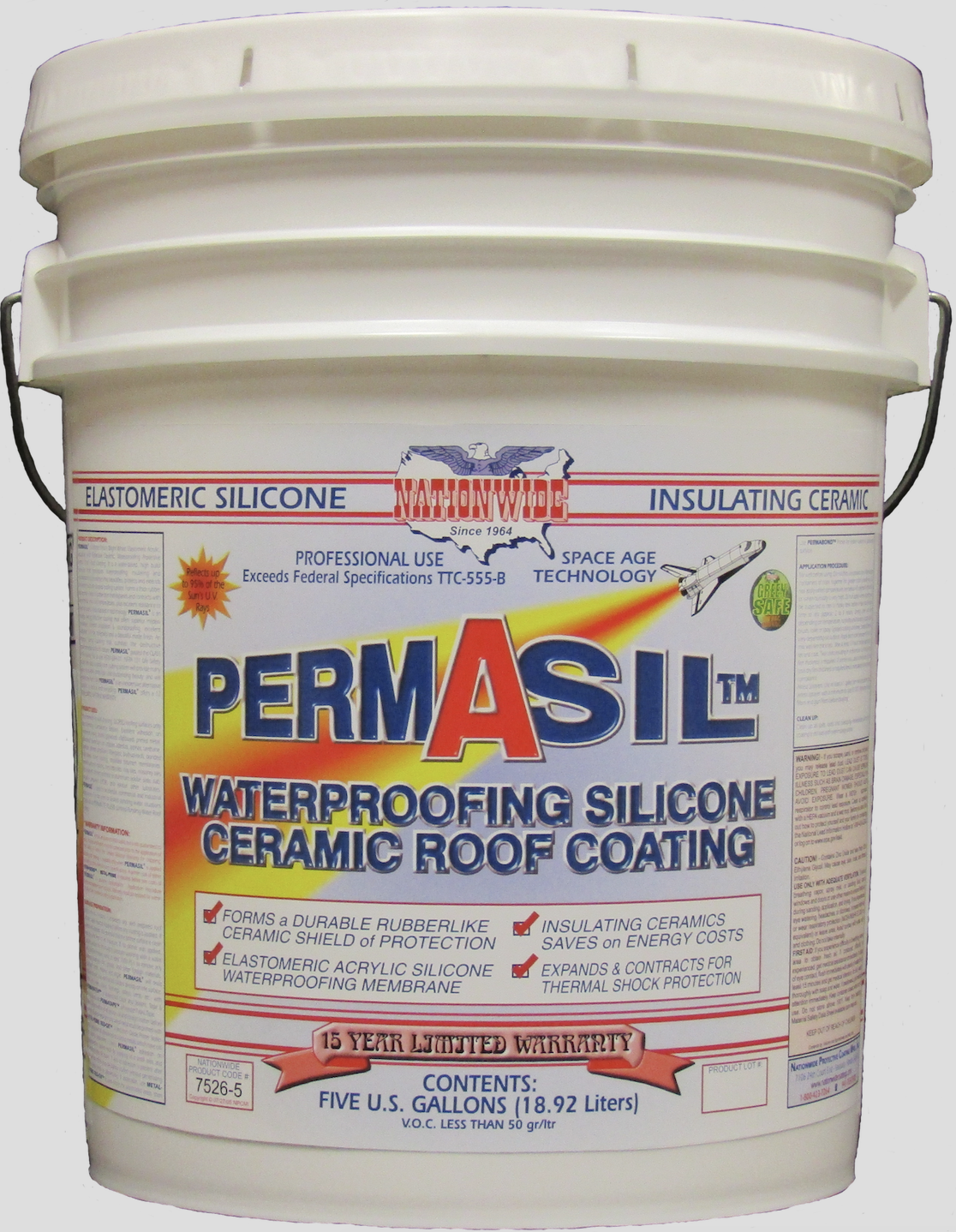 New Elastomeric Acrylic Silicone Waterproofing Roof Coating