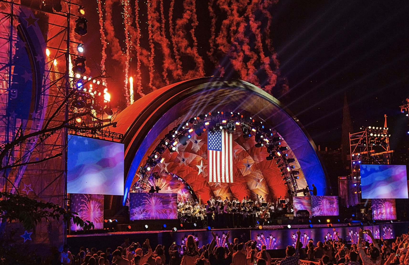 The Boston Pops perform at The Hatch Memorial Shell on July 4, 2018. Photo: Walter Mulligan Photography