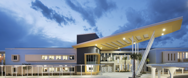 Metal Panels Create High-Tech Appearance for Energy-Positive School