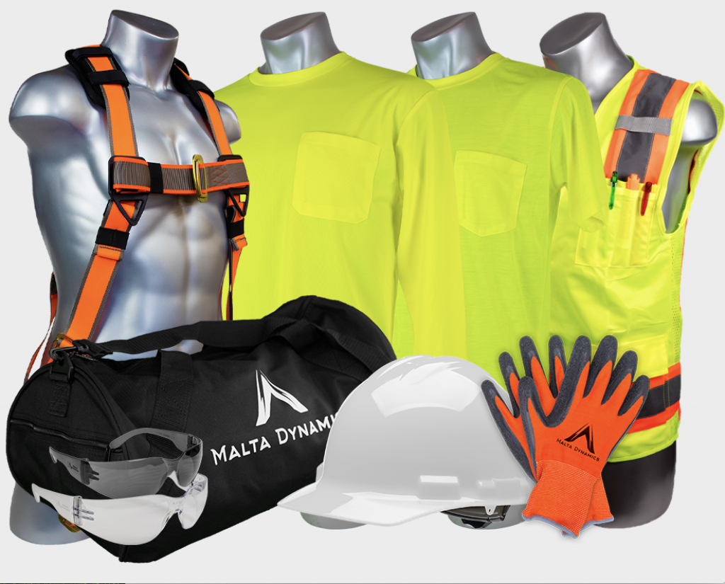 Malta Dynamics High Visibility Yellow Safety Short Sleeve Shirt
