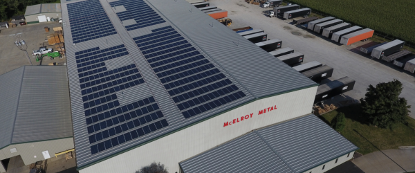 Illinois Manufacturing Facility Incorporates PV Panels With Roof Re-cover