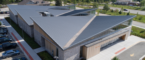 Shirley Ryan AbilityLab Features a Striking Standing Seam Metal Roof