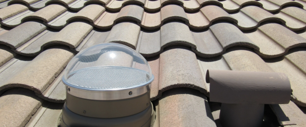 Installing Tubular Skylights on Cement and Clay Tile Roofs