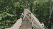 The SteepSeat from Kain Built is the world's first cable suspension walk board system for roofing.