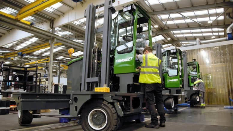 Combilift launches the Combi-XLE electric multidirectional forklift.