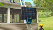 Safety Hoist Company designed the Flat Panel Solar Cradle to help transport flat panels quicker and more efficiently.